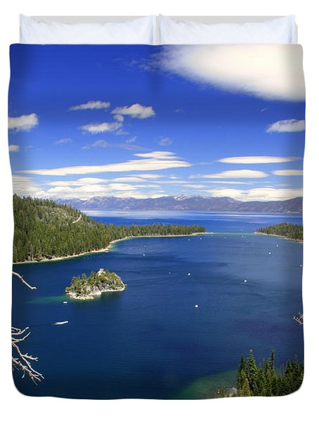 Tahoe's Emerald Bay Duvet Cover