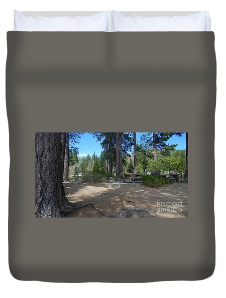 Duvet Cover featuring the photograph Tahoe's Summer Invitation by Bobbee Rickard
