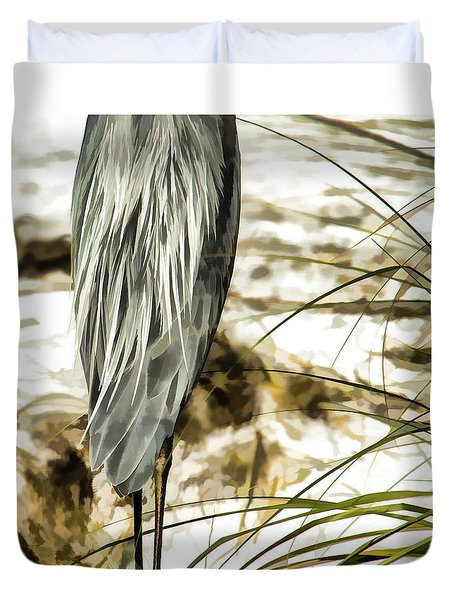 Tail Feathers Duvet Cover