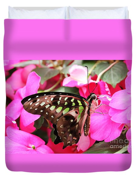 Tailed Jay Butterfly #4 Duvet Cover