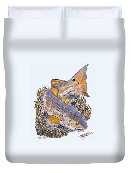 Tailing Redfish Duvet Cover