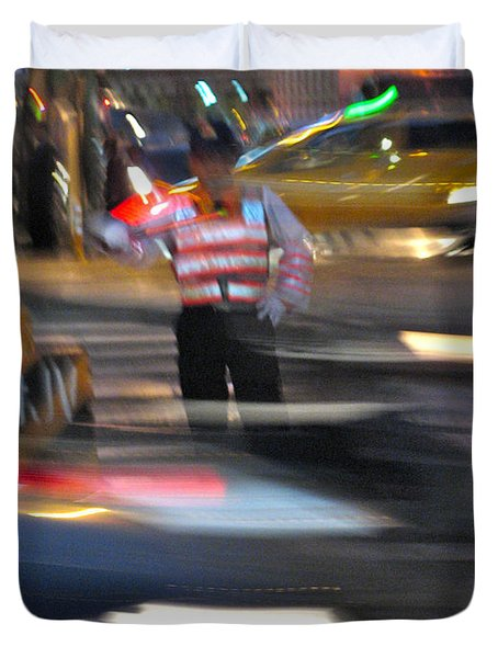 Taipei Traffic Duvet Cover