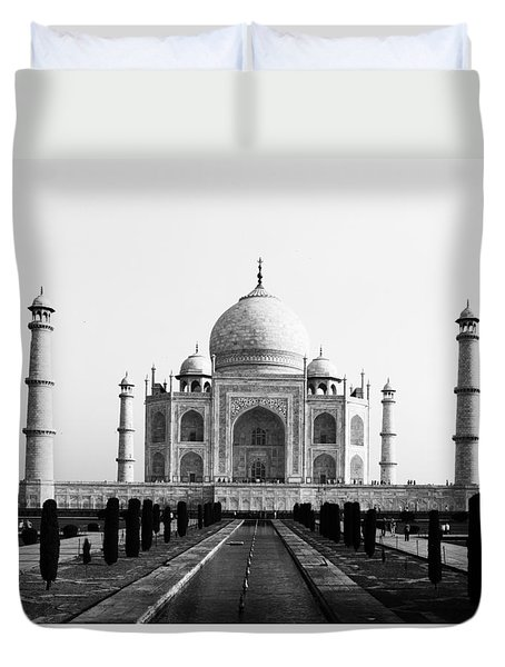 Taj Mahal Bw Duvet Cover