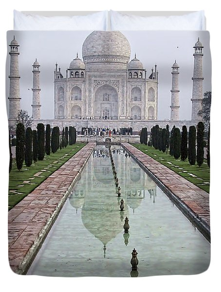 Taj Mahal Early Morning Duvet Cover