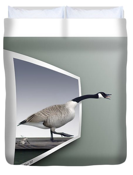 Take A Gander Duvet Cover by Brian Wallace