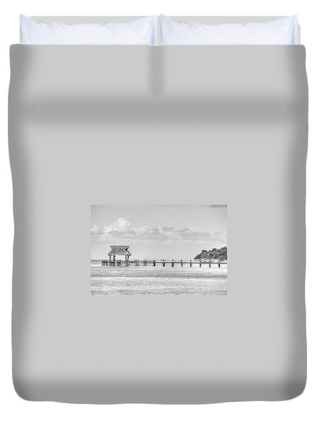 Take A Long Walk Off A Short Pier Duvet Cover