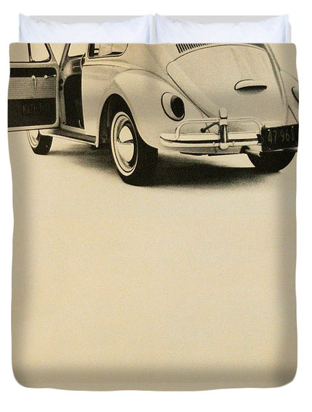 Take It For A Test Drive Duvet Cover by Georgia Fowler