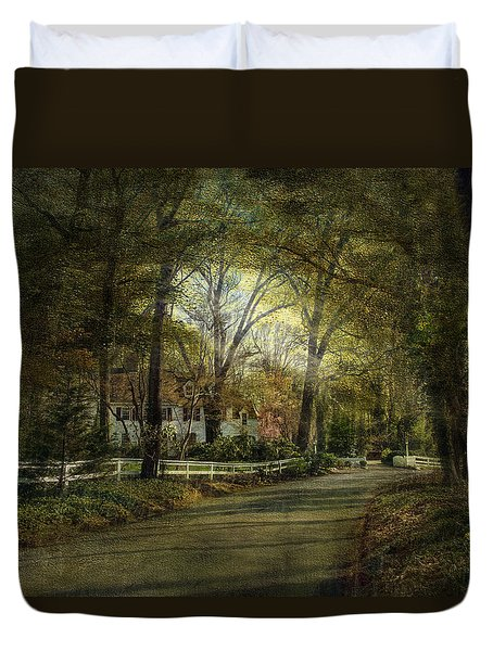 Duvet Cover featuring the photograph Take Me Home by John Rivera