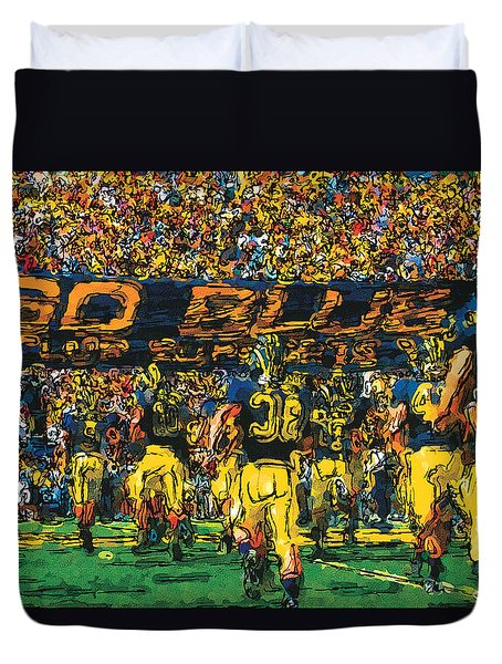 Take The Field Duvet Cover