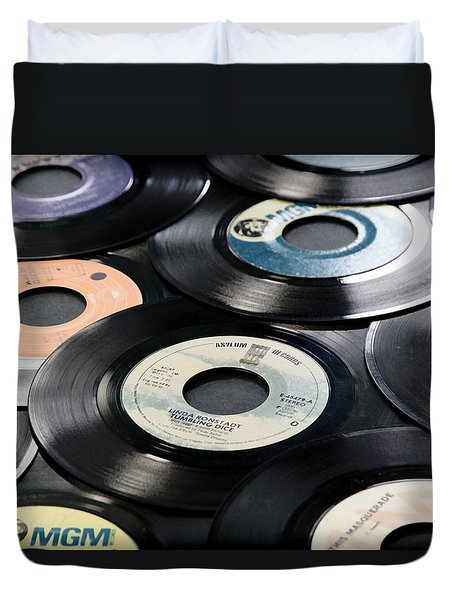Take Those Old Records Off The Shelf Duvet Cover by Athena Mckinzie
