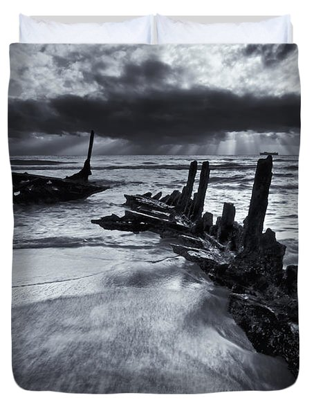 Taken By The Sea Duvet Cover by Mike  Dawson