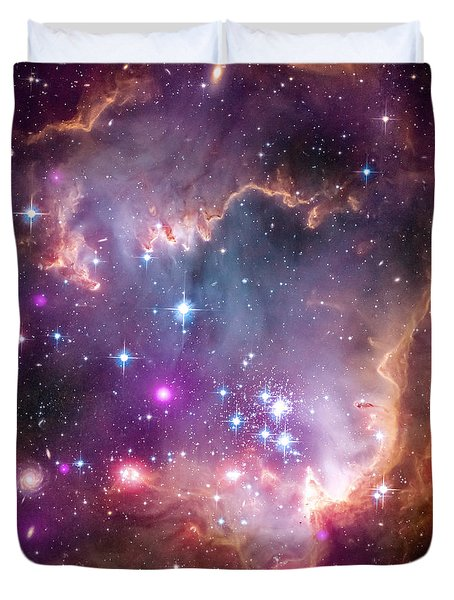 Duvet Cover featuring the  Taken Under The Wing Of The Small Magellanic Cloud by Paul Fearn