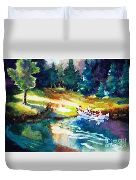 Taking A Break 2 Duvet Cover by Kathy Braud