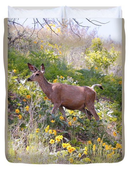 Taking A Stroll In The Country Duvet Cover by Athena Mckinzie