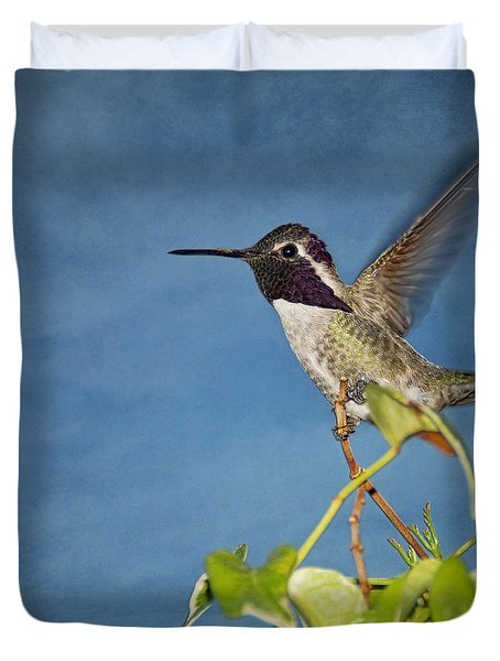 Taking Flight Duvet Cover by Peggy Hughes