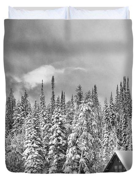 Taking Refuge - Grand Teton Duvet Cover by Sandra Bronstein