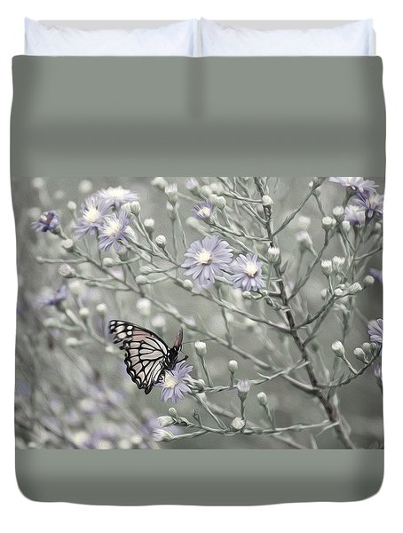 Taking Time To Smell The Flowers Duvet Cover