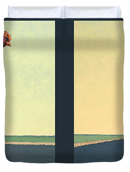 Tale Of Two Chickens Duvet Cover by James W Johnson