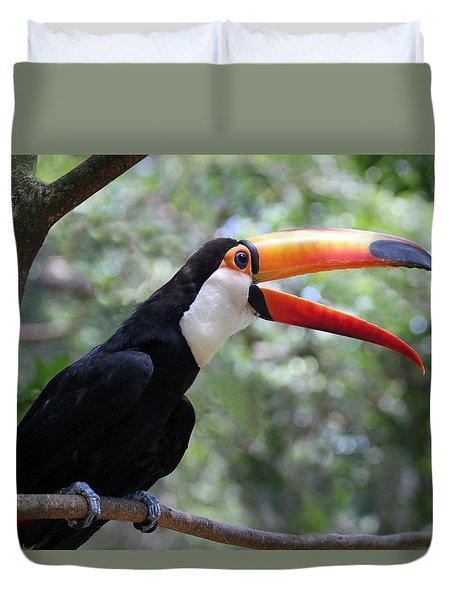 Talkative Toucan Duvet Cover