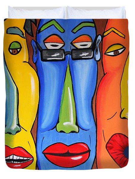 Talking Heads Duvet Cover