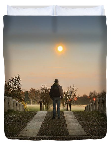Talking To The Moon Duvet Cover
