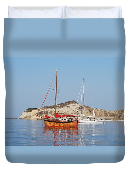Tall Ship Duvet Cover