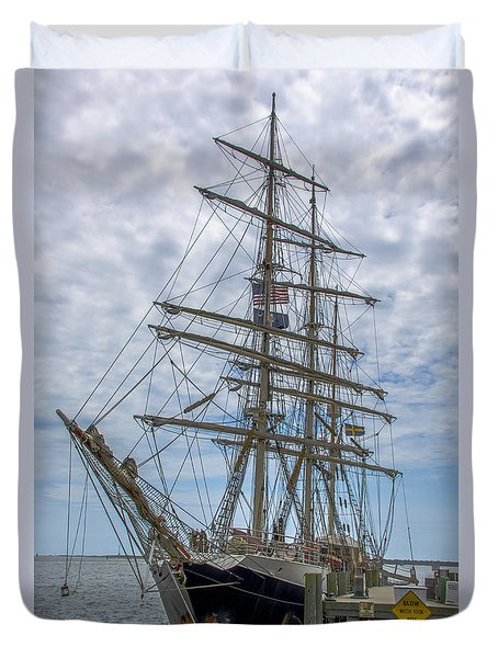 Tall Ship Gunilla Vertical Duvet Cover by Dale Powell
