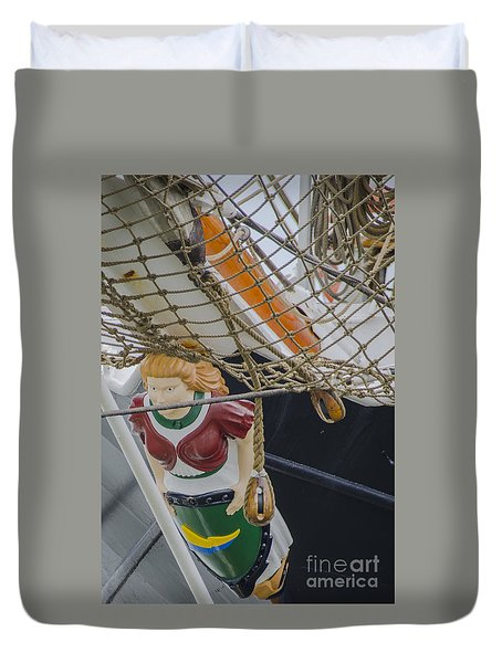 Tall Ship Gunilla Masthead Duvet Cover by Dale Powell
