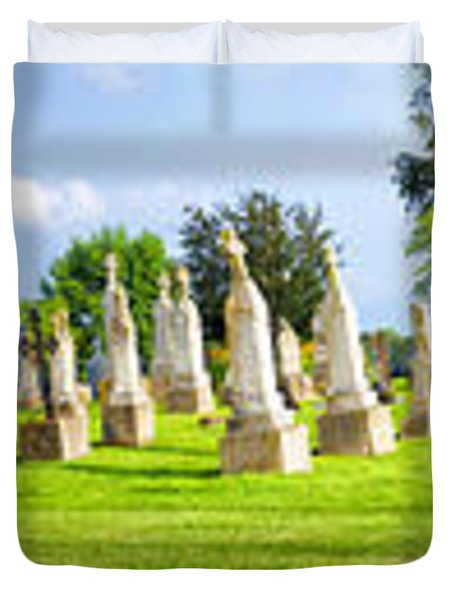 Tall Tombstones Panorama Duvet Cover by Thomas Woolworth