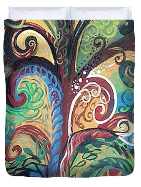 Tall Tree Winding Duvet Cover by Genevieve Esson