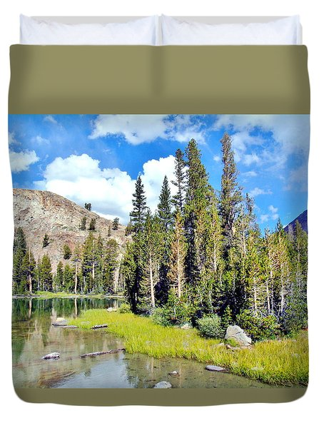 Duvet Cover featuring the photograph Tall Trees by Marilyn Diaz
