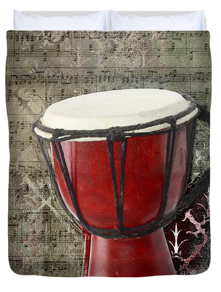 Tam Tam Djembe - S02a Duvet Cover by Variance Collections