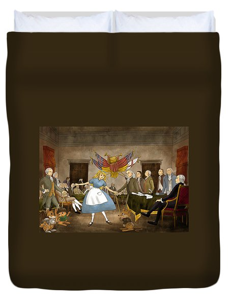 Tammy In Independence Hall Duvet Cover by Reynold Jay