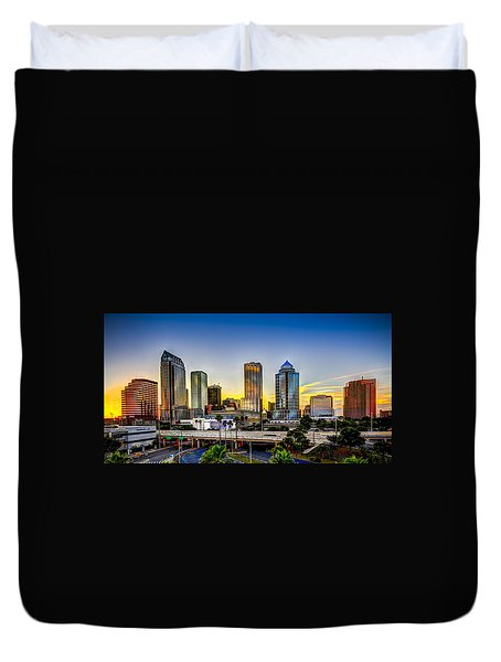 Tampa Skyline Duvet Cover