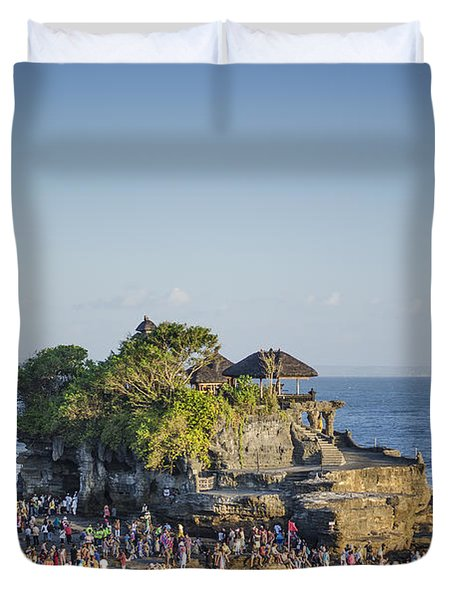 Tanah Lot Temple In Bali Indonesia Coast Duvet Cover