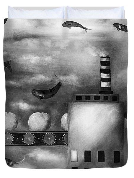 Tangerine Dream Edit 3 Duvet Cover by Leah Saulnier The Painting Maniac