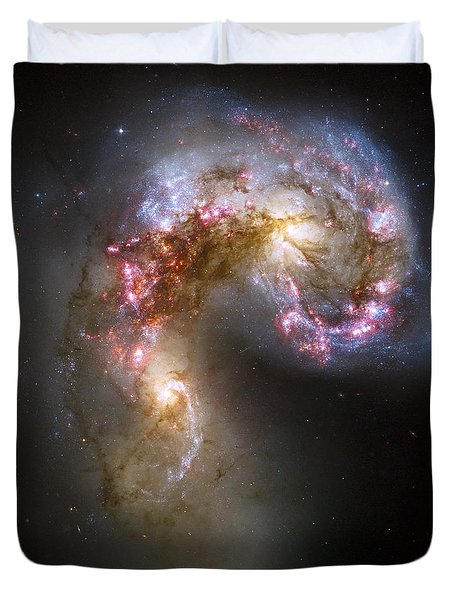 Tangled Galaxies Duvet Cover by Adam Romanowicz