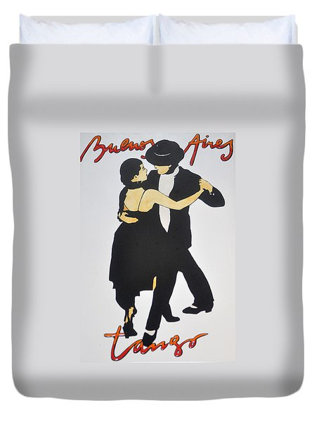 Tango In Buenos Aires Duvet Cover