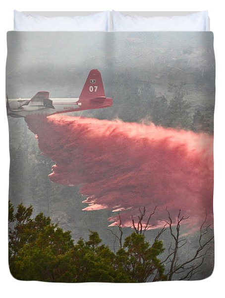 Duvet Cover featuring the photograph Tanker 07 On Whoopup Fire by Bill Gabbert