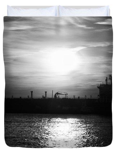 Tanker Twilight Duvet Cover