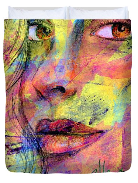 Tanya Duvet Cover by P J Lewis
