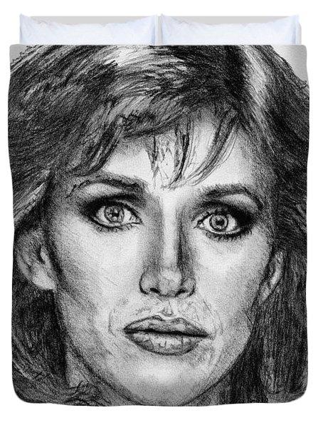 Tanya Roberts In 1981 Duvet Cover by J McCombie