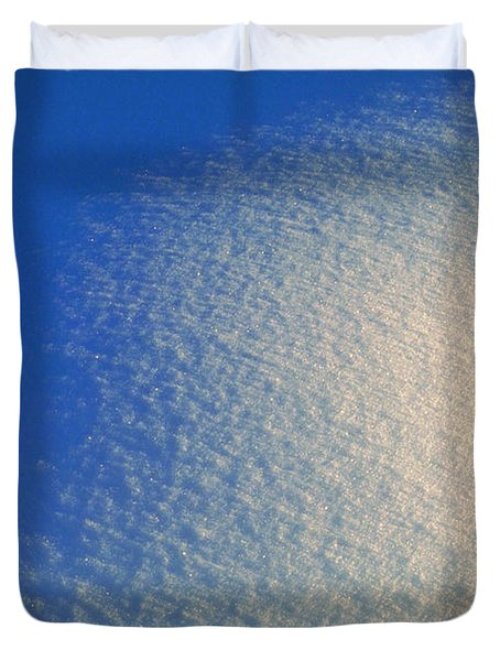 Tao Of Snow Duvet Cover by Mark Greenberg