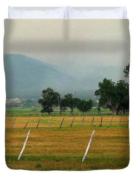Taos Fields Duvet Cover by Steven Ralser