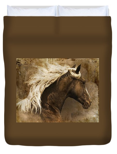 Duvet Cover featuring the photograph Taos by Priscilla Burgers
