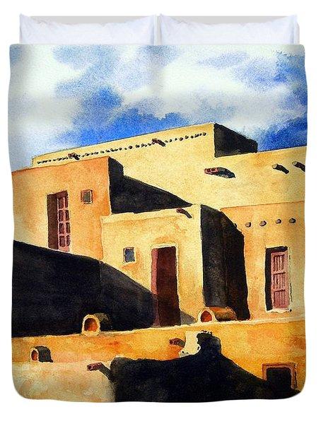 Taos Pueblo Duvet Cover
