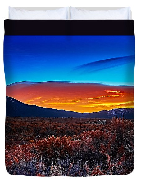 Taos Sunrise X Duvet Cover