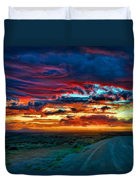 Taos Sunset Iv Duvet Cover