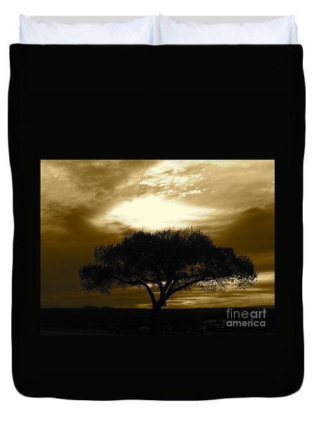 Taos Tree Duvet Cover