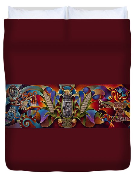 Tapestry Of Gods Duvet Cover